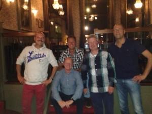 Bestuur Club van 50: Rene Zijlstra, Arjen Velds, Perry Dizij, Niels Engelmoer en Robert Minnesma