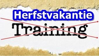 Informatie training in de herfstvakantie