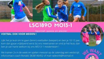 Voetballen ook voor meiden