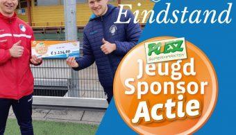 Eindstand Jeugd sponsor actie